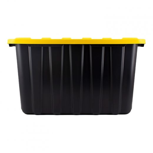 102 L Heavy Duty Black Tote With Yellow Lid