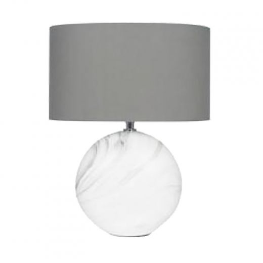 Metal Base Table Lamp With Black Shade