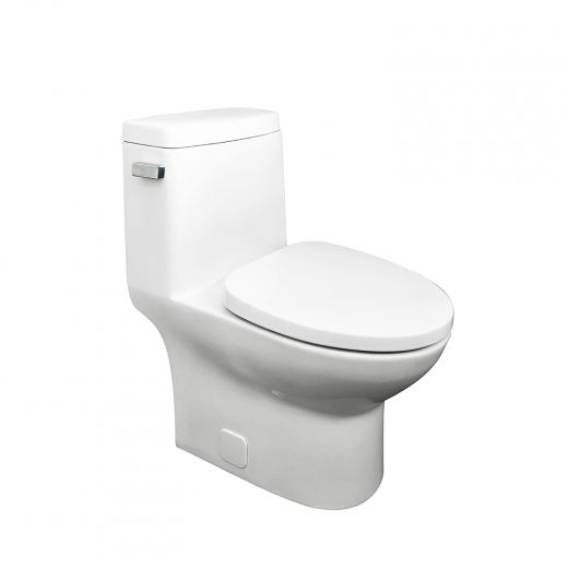 Perry One Piece Concealed Elongated Toilet