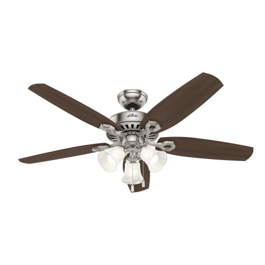 "Hinnman 52"" 5-Blade Brushed Nickel Ceiling Fan With LED Ligh"