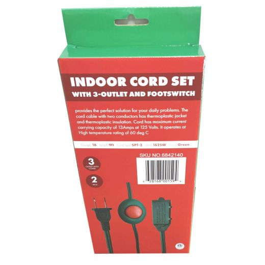 9' Cord/9' Foot Switch-2/Pack