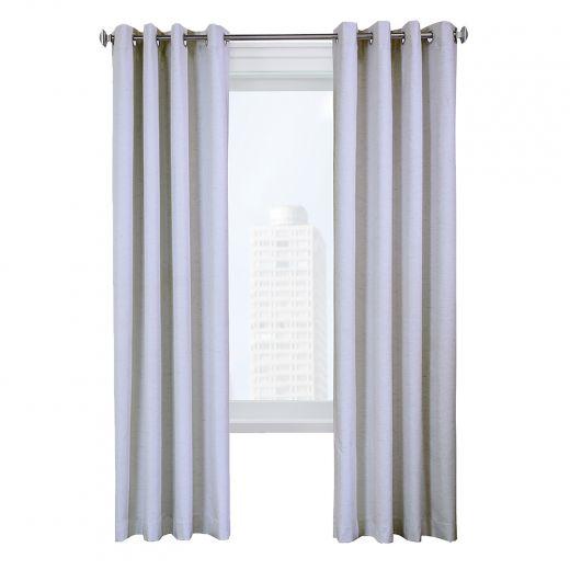 "52"" x 84"" Suprema White Blackout Curtain"