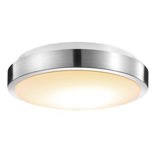 """11"""" Smart Brushed Nickel Flush Mount Ceiling Light"""