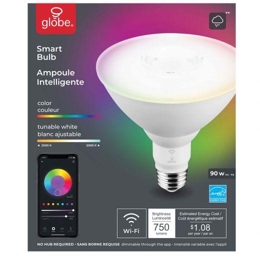 10 Watt PAR38 LED Dimmable WiFi Colour Changing Smart Bulb