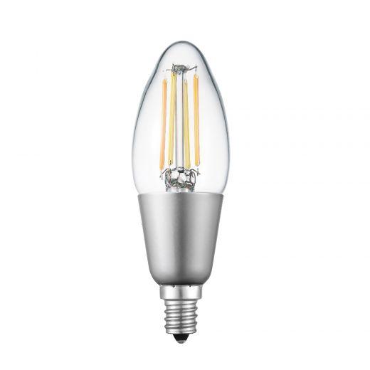 4.5 Watt B11 Clear Filament WiFi Dimmable Smart Bulb LED