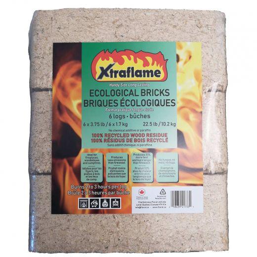 Xtraflame Ecological Wood Bricks-6/Pack