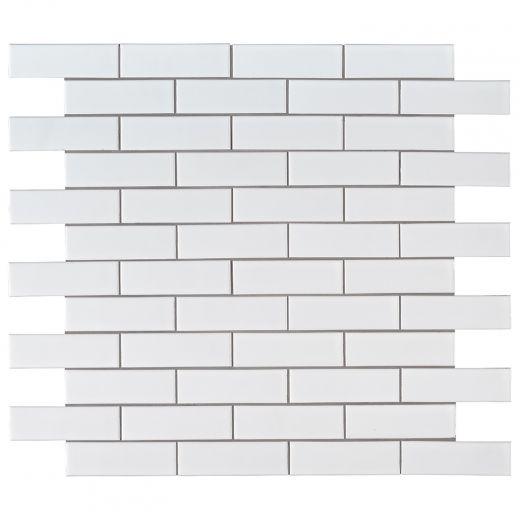 2X6 Retro Brick Matte Bianco Mosaic15/Pieces