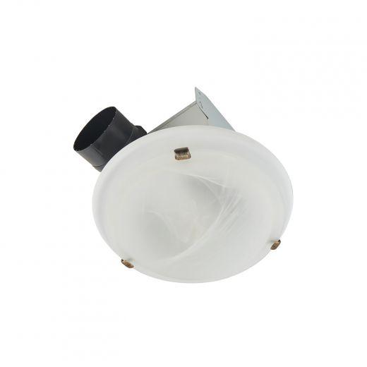 Roomside Series 80 CFM Decorative Dome Ventilation Fan-Light