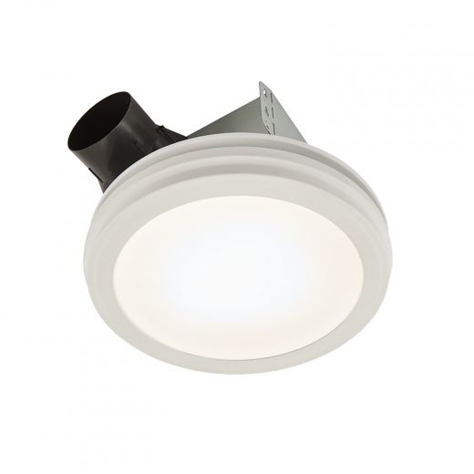 Roomside Series 80 CFM Round Decorative Flat-Panel LED Venti