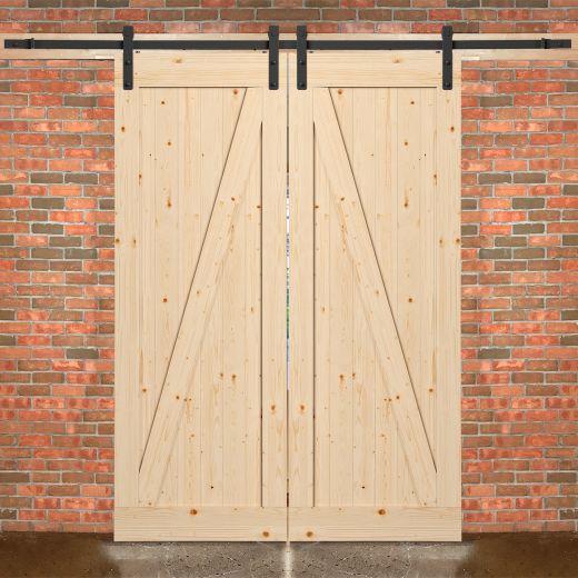 "33"" x 84"" Farm House Interior Barn Door And Hardware Kit"