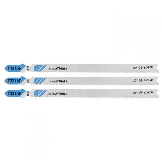 "3pc 5-1/4"" 21TPI Speed Metal T-Shank Jig Saw Blades"