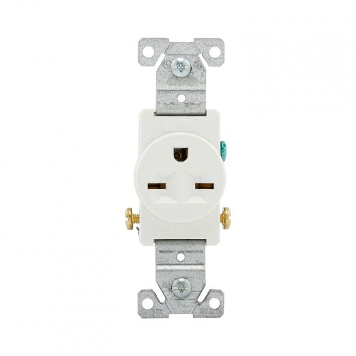 White 15-Amp Round Outlet Commercial Outlet