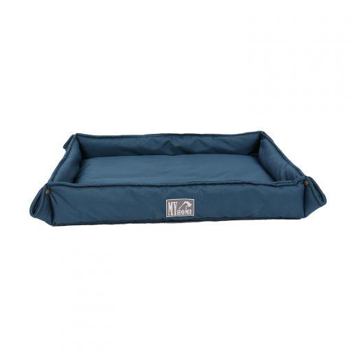 "Brown Pet Bed With Rectangular  Folding Edges  27""X 23"""
