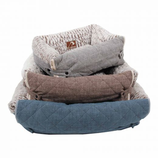 Large Square High Wall Pet Bed