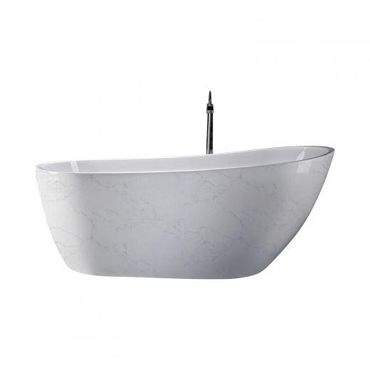Mira Freestanding Bathtub With Marble Finish