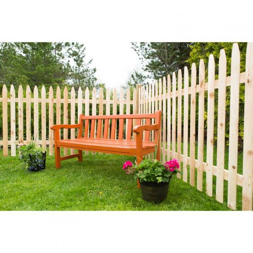 Cedar 4' x 8' Molded Spaced Picket Fence Panel