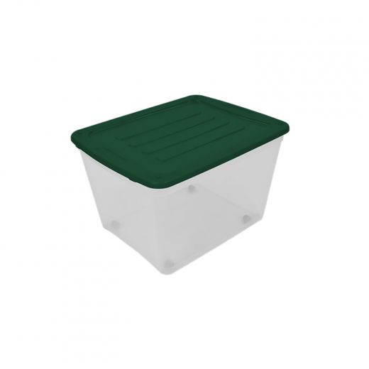 80L Storage Tote With Wheels