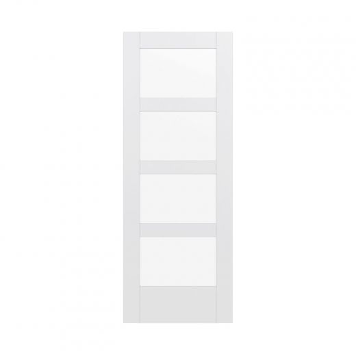 """MDF 4 Lite Lami 32"""" x 80"""" Glass Door Shaker"""
