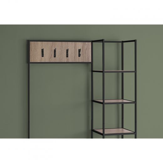 Hallway Bench with Storage and Hooks