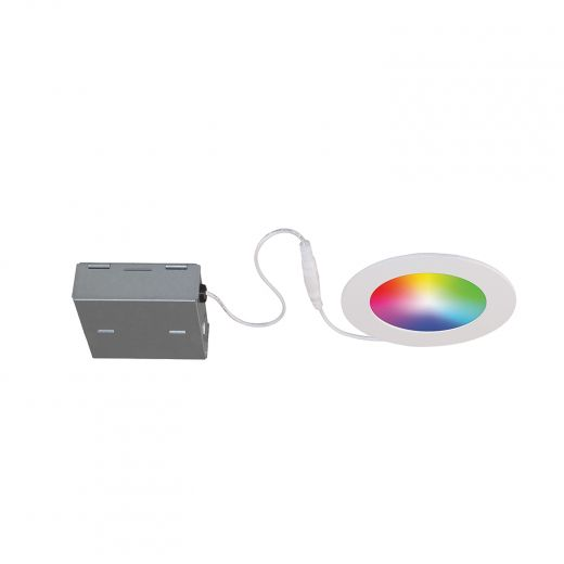 """Wifi RGBW 4"""" Matte White Recessed Fixture 11W, 550Lm, 2700-4"""