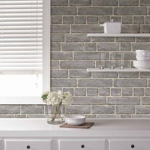 Nuwallpaper Peel And Stick Brick Façade