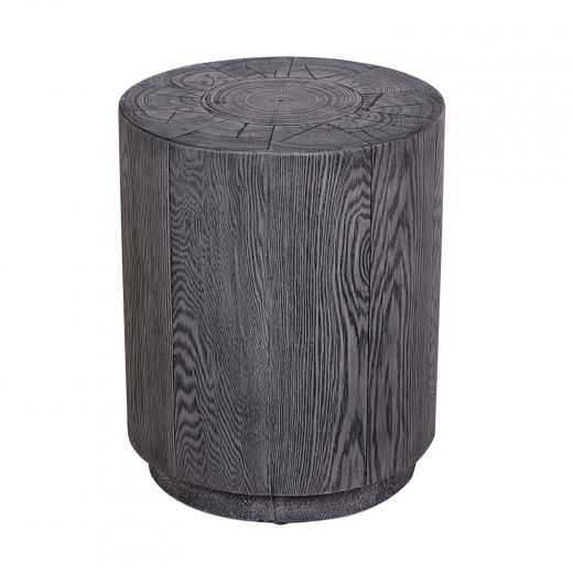 Round Outdoor Faux Wood Accent Table