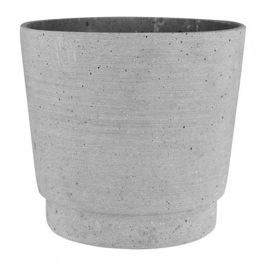 "6"" Gray Stepped Pot"