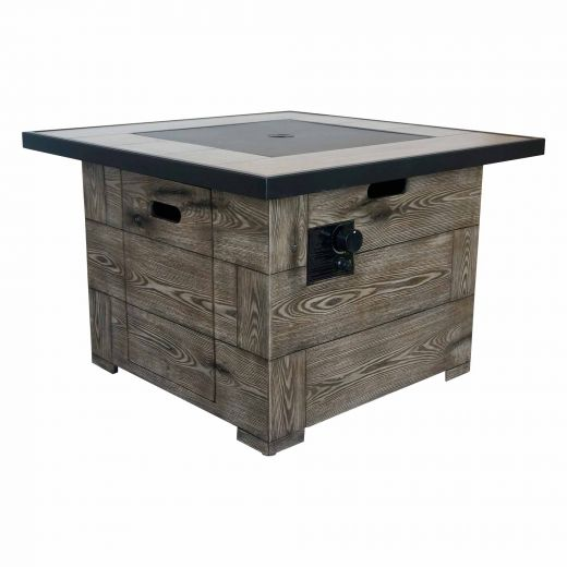 """34.6"""" 50,000 BTU  Cabo Fire Table With Steel Lid"""
