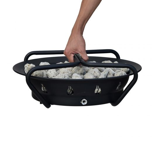 """18.5"""" Portable Gas Firebowl with Foldable Legs"""