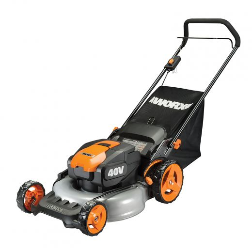 """Worx 40V Power Share 20"""" Lawn Mower Mulching/Side Discharge"""