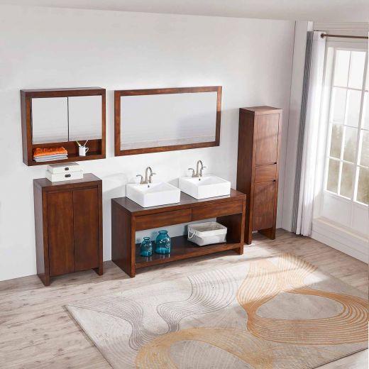"""August 25""""H Floor Cabinet Walnut"""