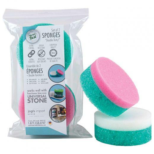 Universal Stone Double Duty Sponges-2/Pack
