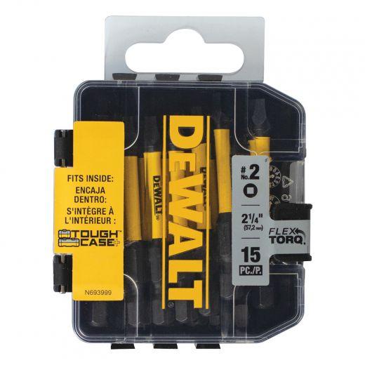 Dewalt Flex Torq Impact Ready 2 Inch Square No.2 Bits-15/Box