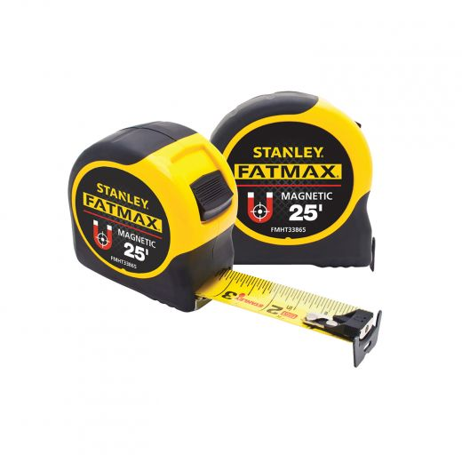 25' Fat Max Magnetic Tape Measure-2/Pack
