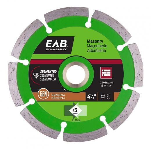 "4-1/2"" Segmented Green Diamond Blade - Exchangeable"
