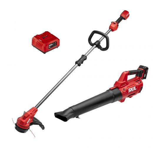 """SKIL Pwr Core 20 Brushless 13"""" String Trimmer & Brushless Le"""
