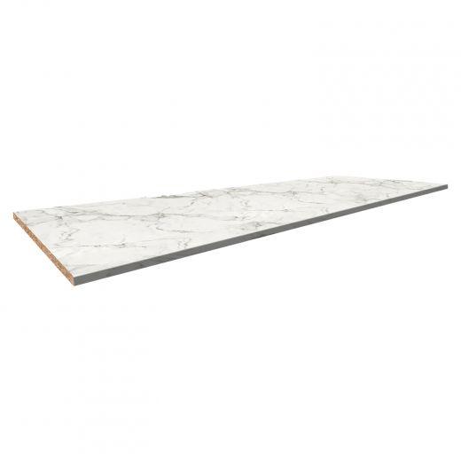 Stretta White Marble Postformed Laminate 25 x 73 x 1-1/8