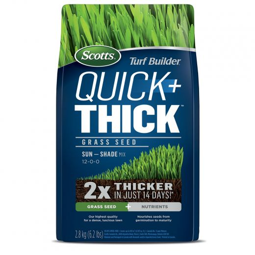 Scotts Turf Builder Quick + Thick Grass Seed Sun-Shade 2.8kg