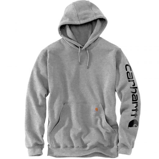 Logo Hooded Heather Gray and Black