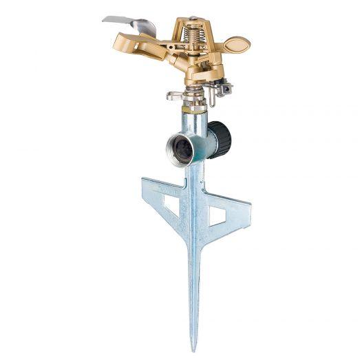 XT Metal Pulsating Sprinkler With Metal Step Spike