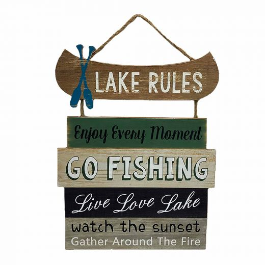 Lake Rules Wall Plaque
