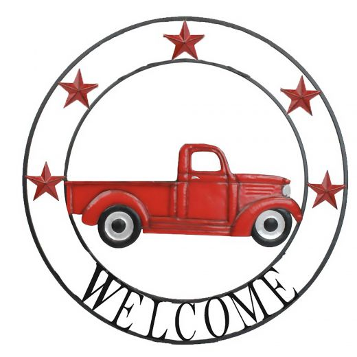 Welcome Truck Sign