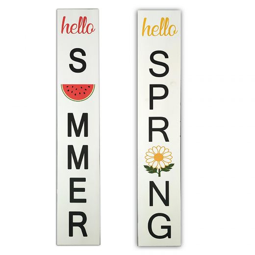 Reversible Porch Sign Spring And Summer