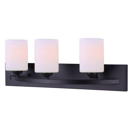Hampton Black Vanity- 3 Light