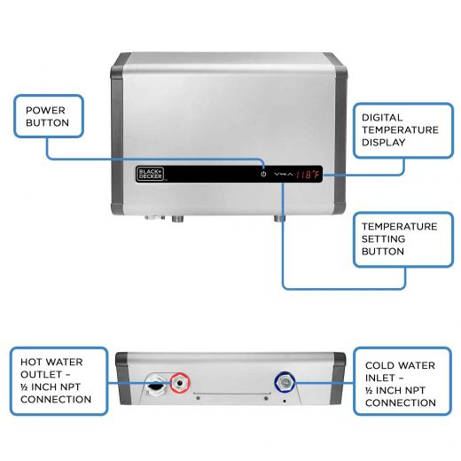 Water Heater Electric Tankless 27kW 5.3GPM