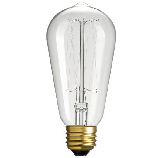 Incandesecent 60 Watt Vintage Bulbs-4/Pack