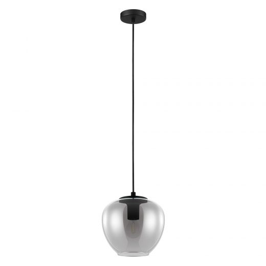 Priorat Pendant Light Black Finish With Smoked Glass