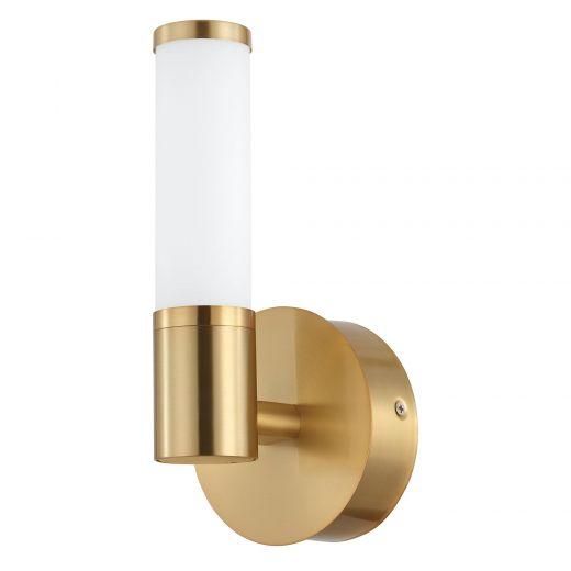 Palmera 1 LED Vanity Light Brushed Gold Finish