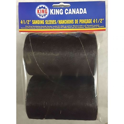 "4-1/2"" X 3"" 120 Grit Wood Sanding Sleeve Kit-2/Pack"