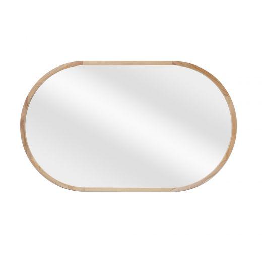 "24"" x 40'' Oval Wood Mirror"